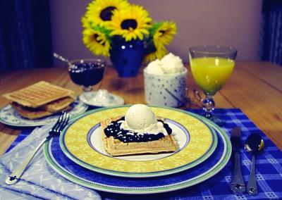 Waffles with Ice Cream