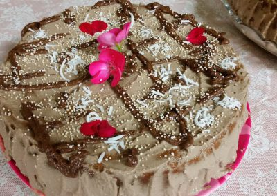 Natural and healthy cakes